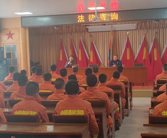 2019年李培生主任为黑龙江省森林消防总队黑河支队浦发授课